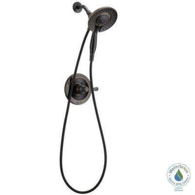 Porter In2ition Two-In-One Single-Handle 4-Spray Shower Faucet in Oil Rubbed Bronze