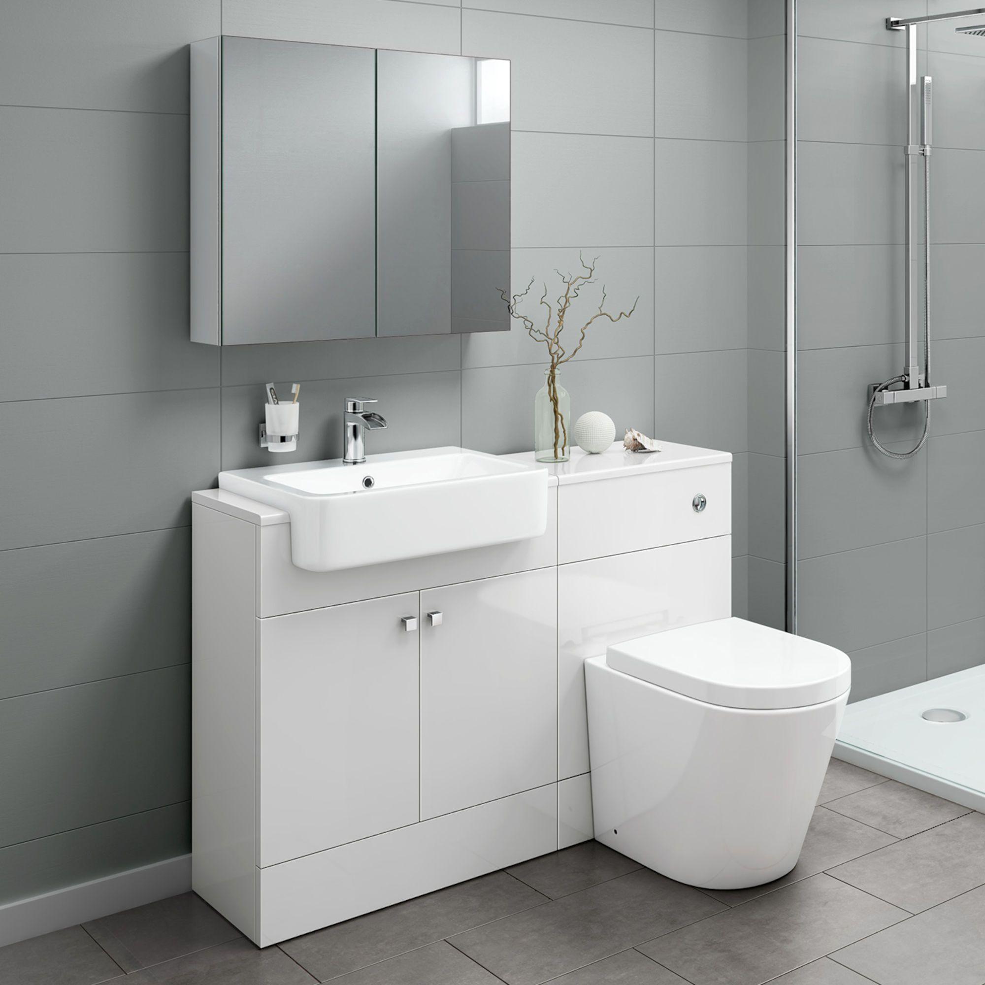 White Vanity Unit With Toilet
