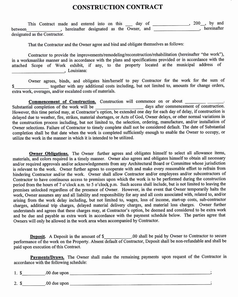 Pricing Agreement Letter Fresh Construction Pany Contract Template Construction Contract Contract Template Contractor Contract Subcontractor non compete agreement template