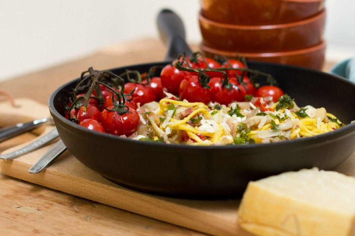 De keuken van sofie spaghetti met spekjes zongedroogde for De keuken van sofie pizza