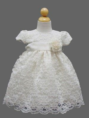 5ac348f4eb55 Ivory Adorable Lace Baby Dress - For my new niece who will be 1 ...