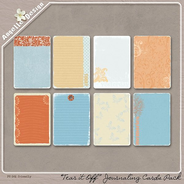 Tear It Off Journaling Cards :: Elements :: Memory Scraps