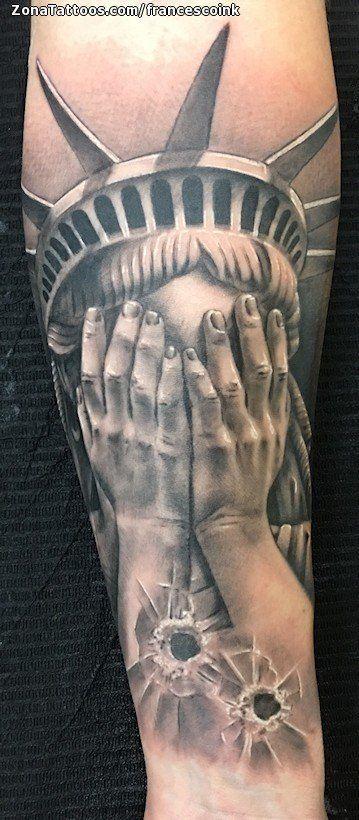 Tatuaje De Estatua De La Libertad Disparos Manos Zonatattoos Com Tatuaje Estatua De La Libertad Estatua De La Libertad Tatuajes Libertad