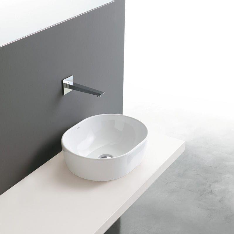 Aufsatzwaschbecken gäste wc oval  Aufsatz-Waschbecken / oval / aus Keramik / modern COVER Ceramica ...