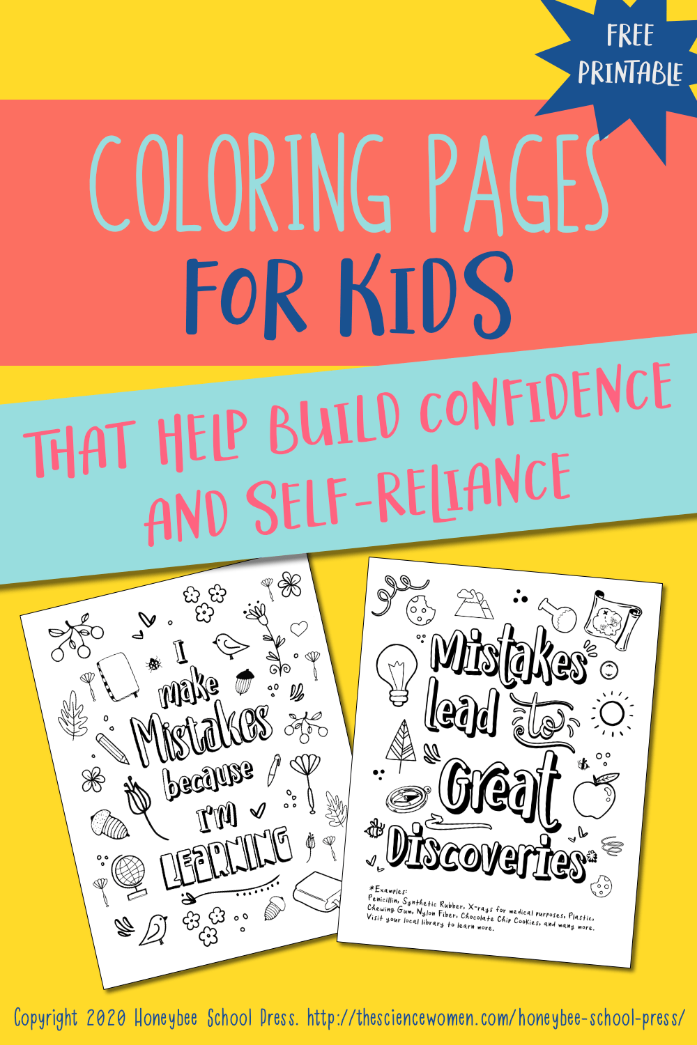 Mistakes Are My Superpower Free Coloring Pages Printable The Science Women Self Esteem Building Activities Life Skills For Children Printables Free Kids