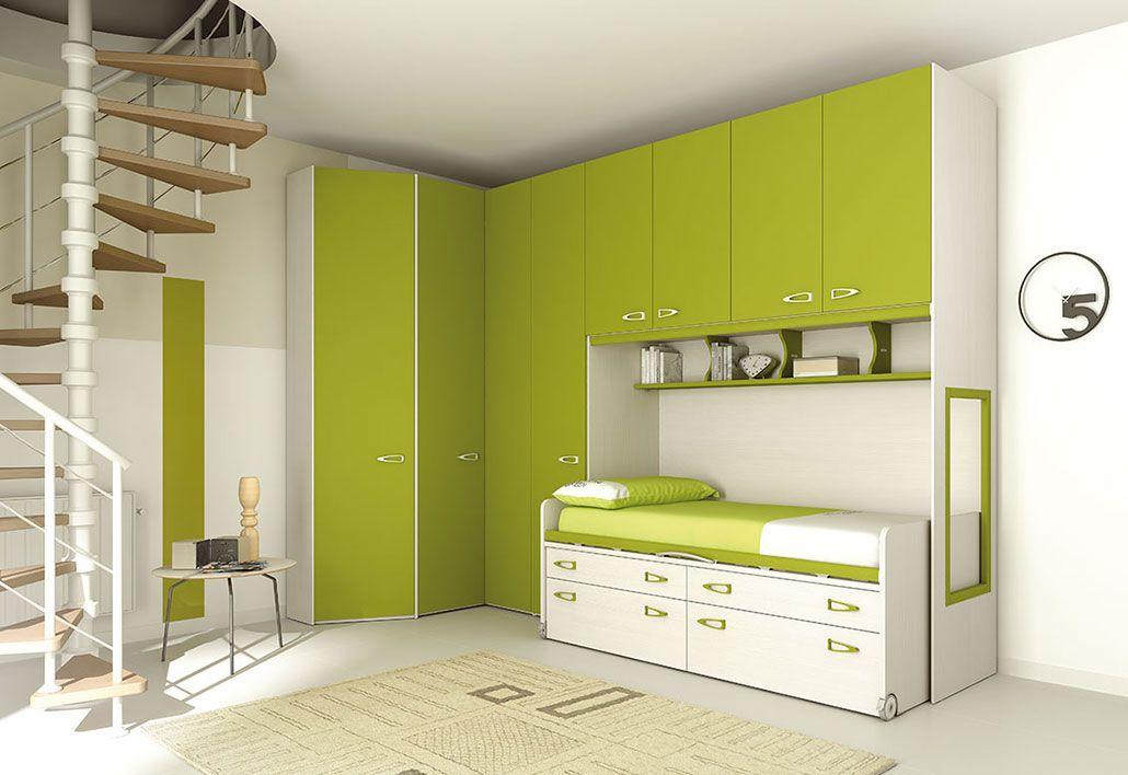 Camerette Moretti Compact Kids Bedroom Sets Bedroom Furniture