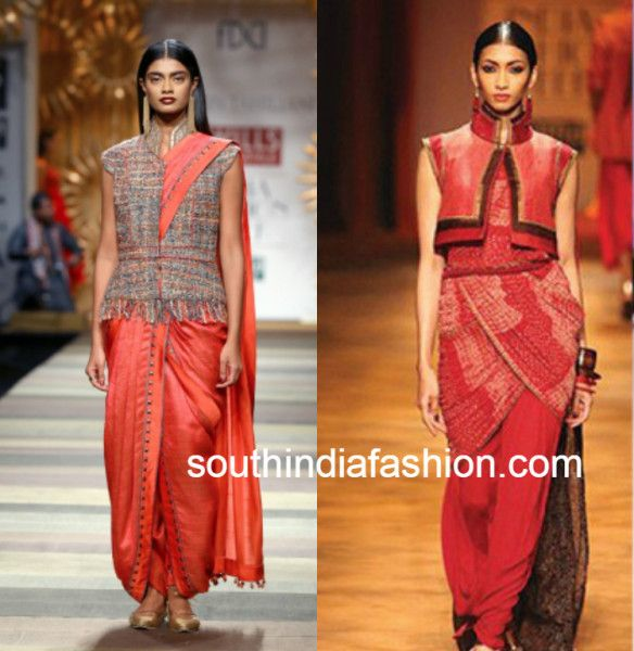 6463d722cbcd6e 6 Ways of using a  Jacket Blouse  to style your saree - South India