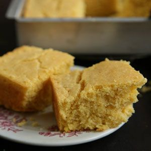 Randy Evans's Corn Bread:   While growing up in Texas, Randy Evans, chef at Brennan's in Houston, ate this corn bread as an accompaniment to creamed Southern peas, along with slices of fresh tomato and sweet onion. [click for recipe]
