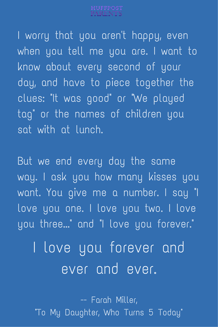 To My Daughter Who Turns 5 Today Parenting Quotes Pinterest