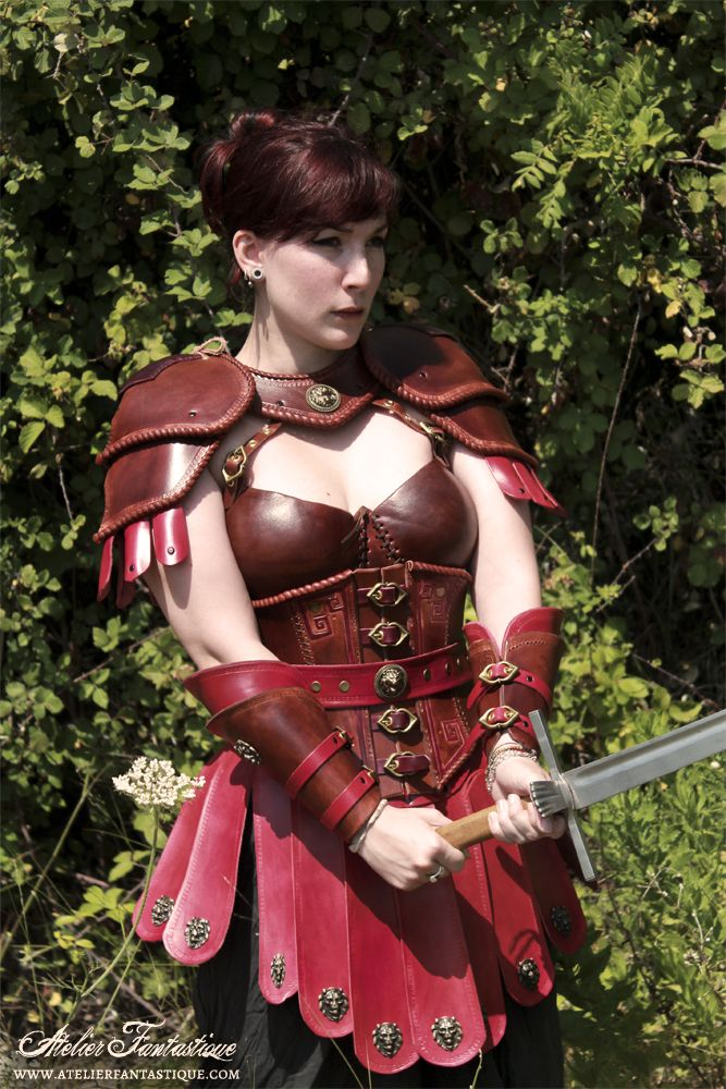armure cuir gn antique romaine femme leather fantasy. Black Bedroom Furniture Sets. Home Design Ideas