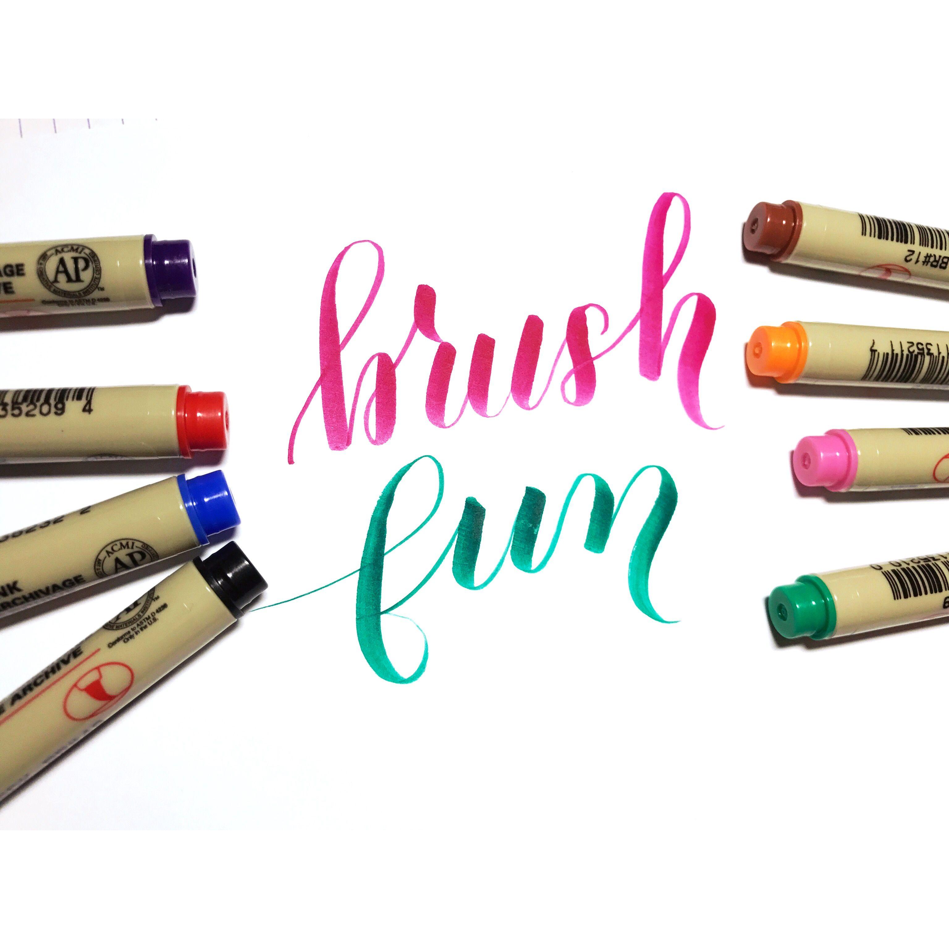 Looove brush pens!