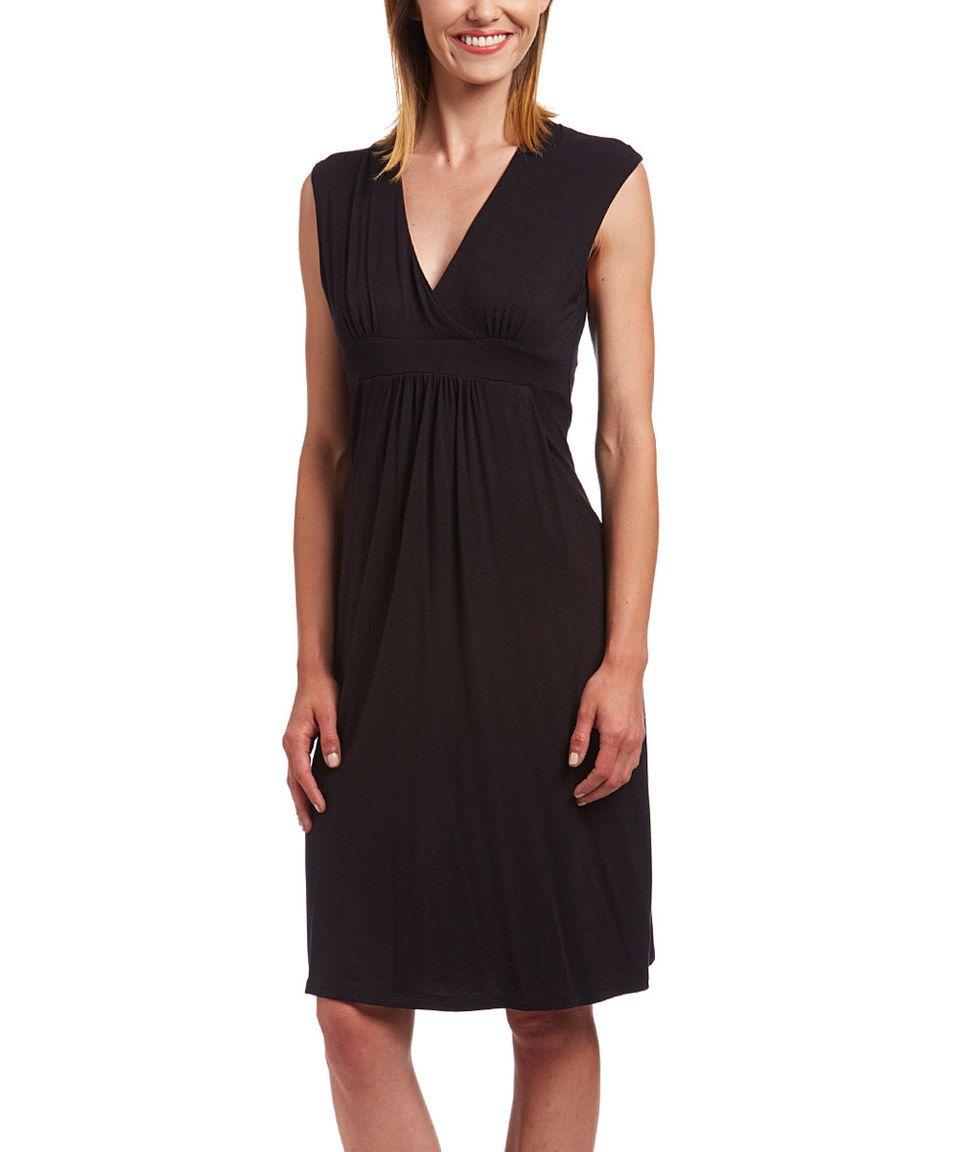 41f0989951 Look what I found on  zulily! Black Empire-Waist Dress by GLAM ...