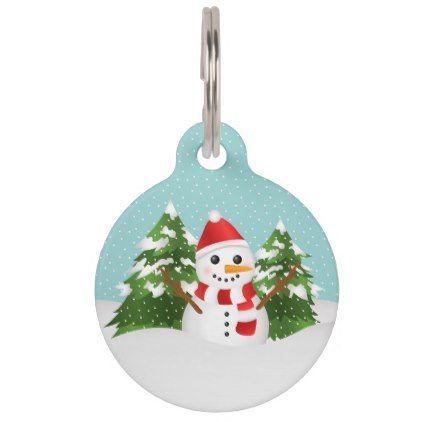cute and festive snowman with pets info christmas pet name tag xmas christmaseve christmas eve - Christmas Pet Names