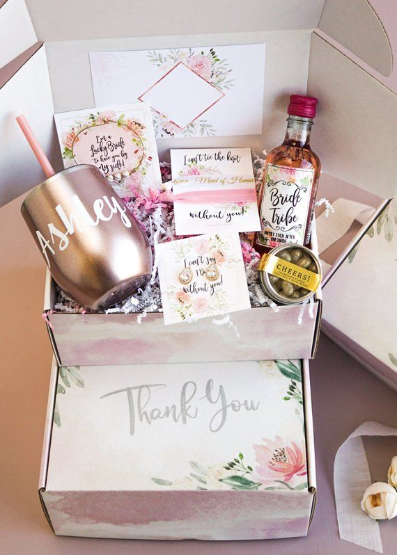 Wedding Thank You Gifts For Bridesmaids: Bridesmaid Thank You Box, Thank You Gift For Maid Of Honor