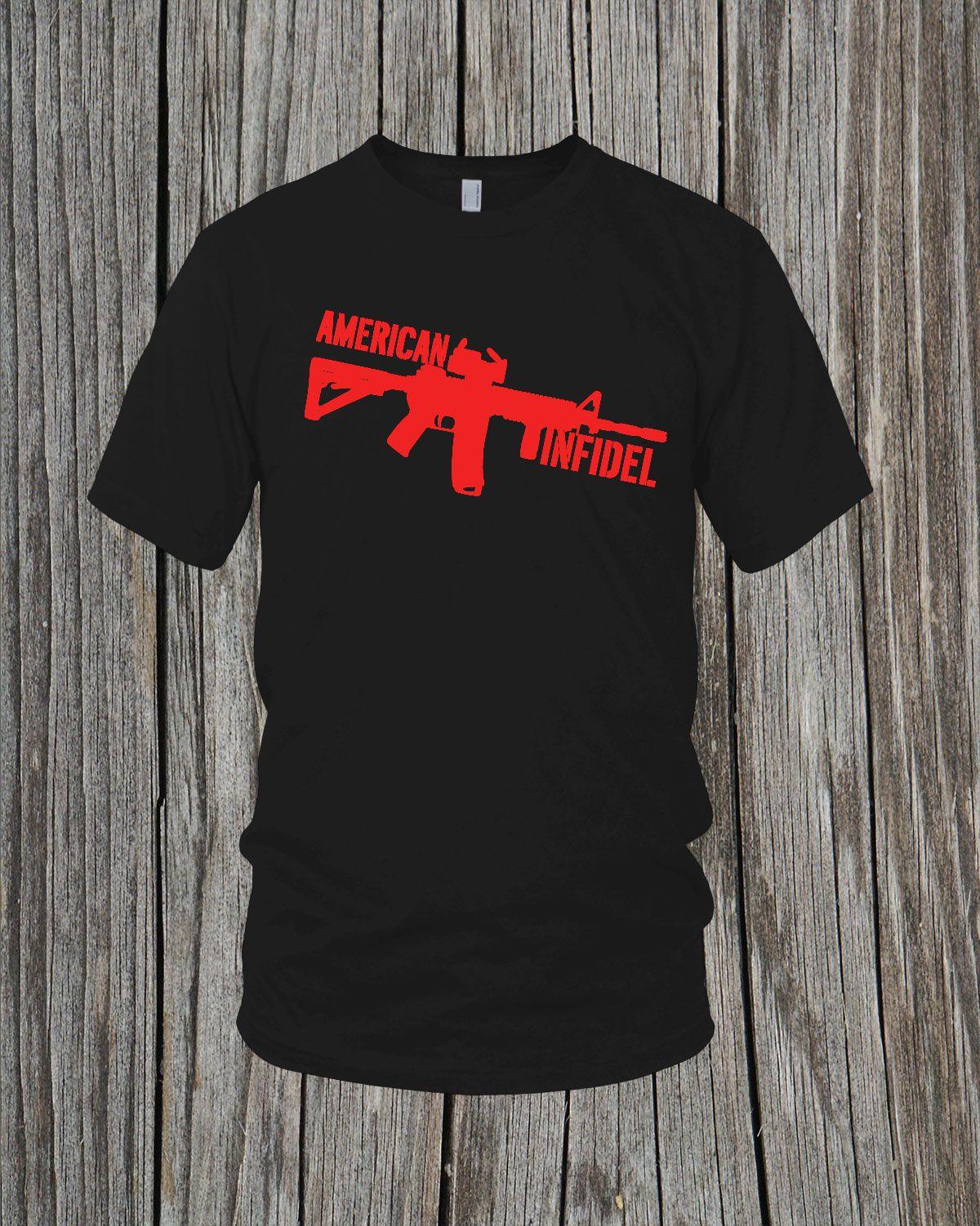 Kafir Shirt Mens T Shirt Black Gildan Shirt With Screen Printed