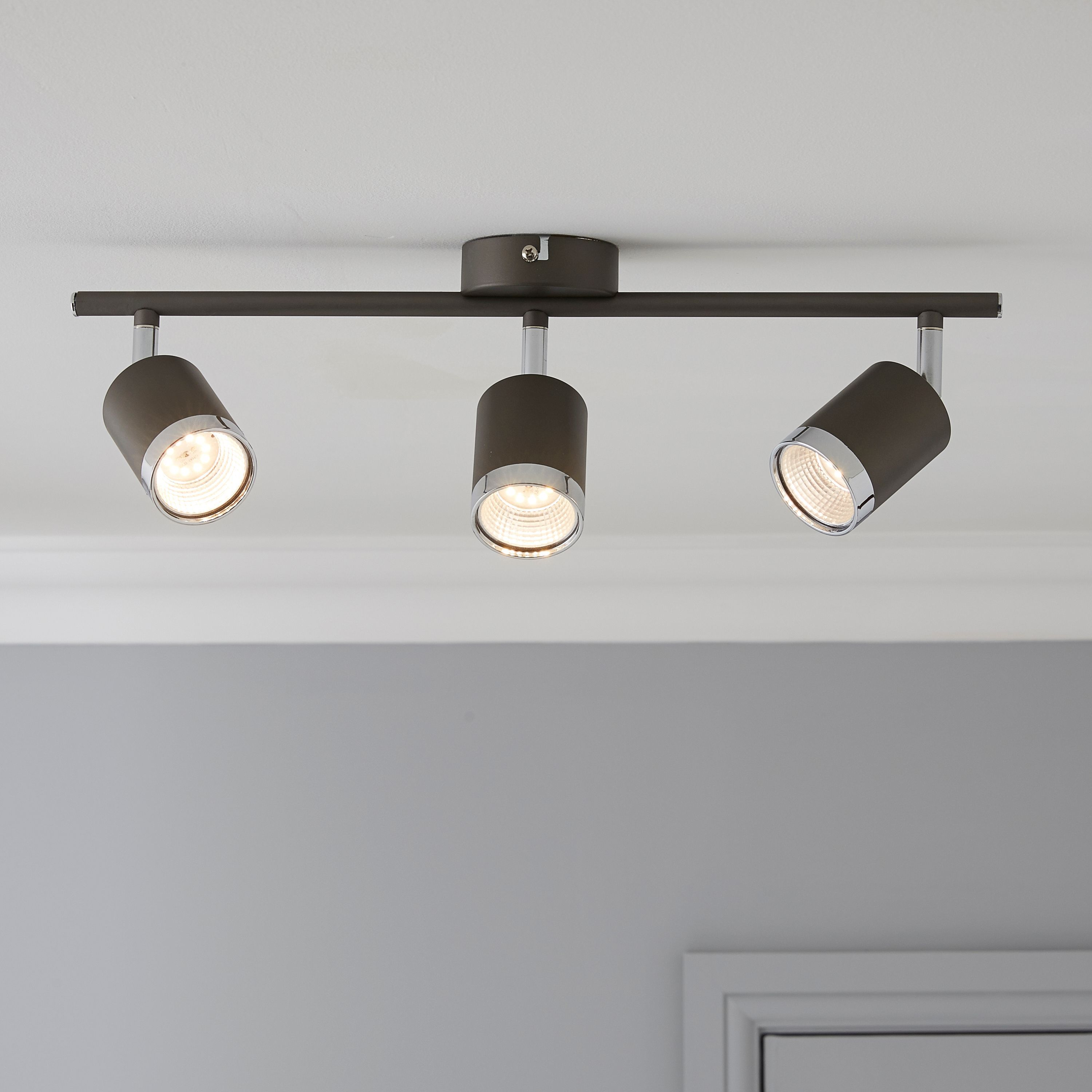 Arvon titan chrome effect 3 lamp ceiling spotlight ceiling arvon titan chrome effect 3 lamp ceiling spotlight aloadofball Image collections