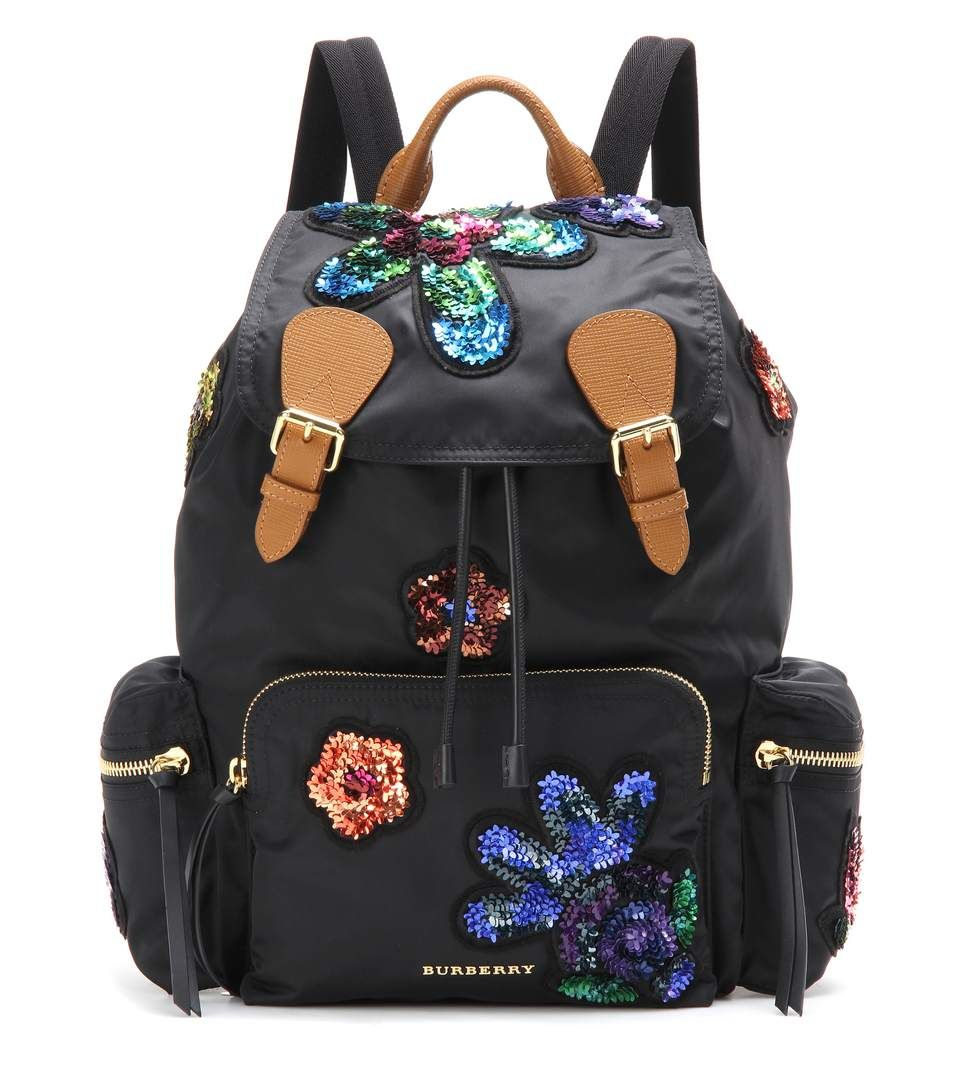 BURBERRY The Large embellished backpack. #burberry #bags #leather #lining #backpacks #
