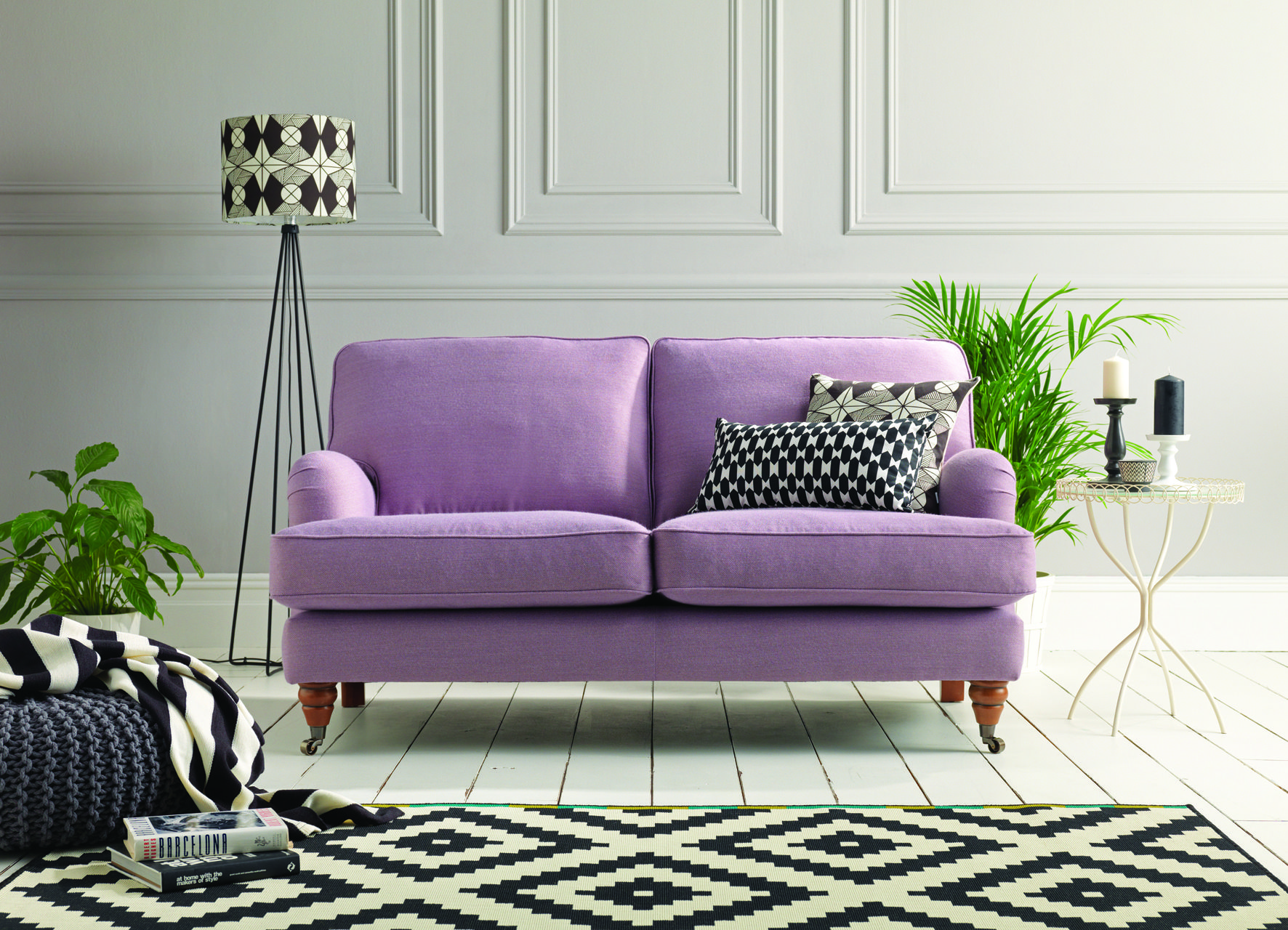 The Florence 2 seater sofa in Muirfield Lavender named after