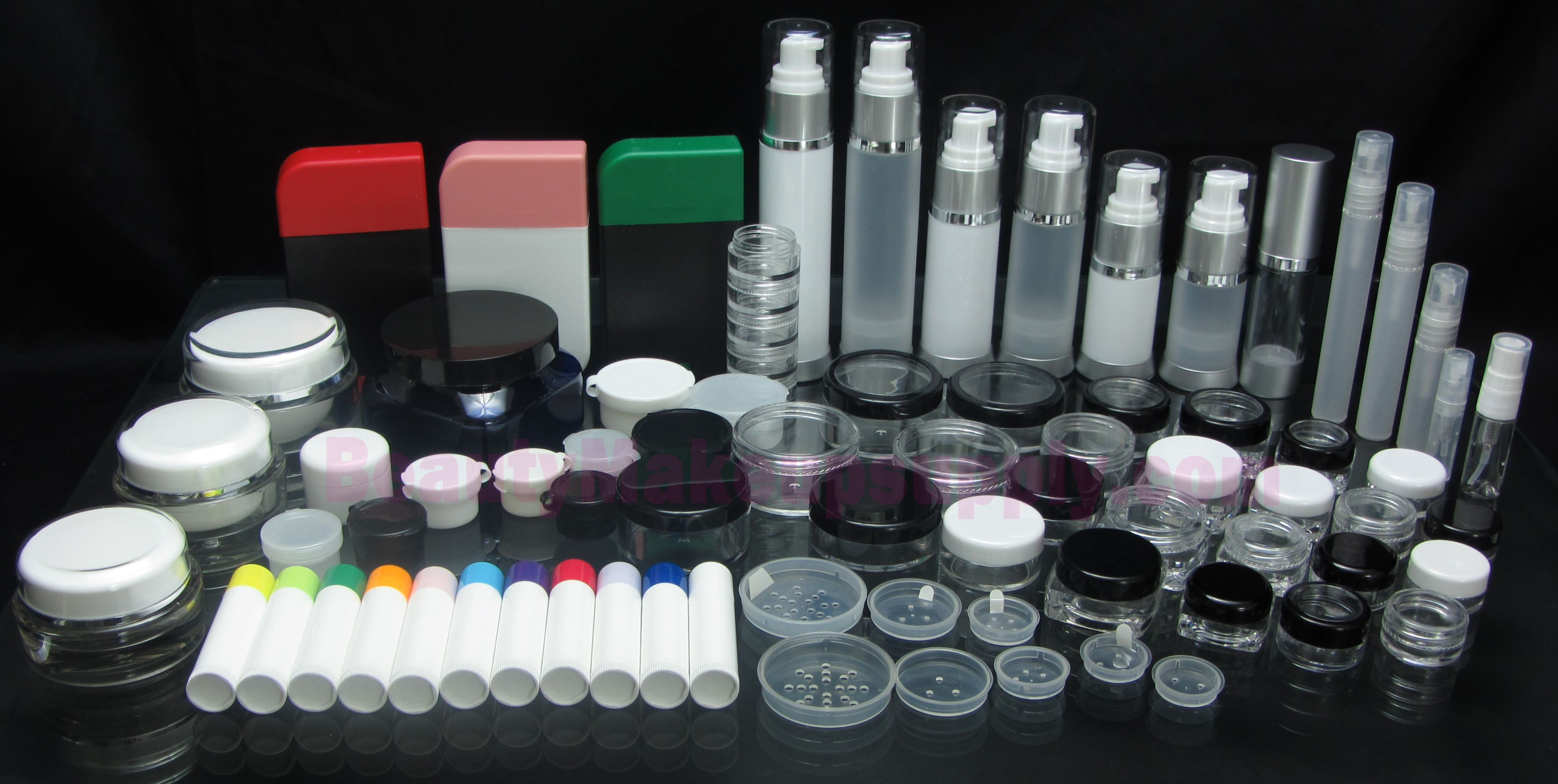 Wholesale Cosmetic Jars - Makeup Applicators - Acrylic Organizers