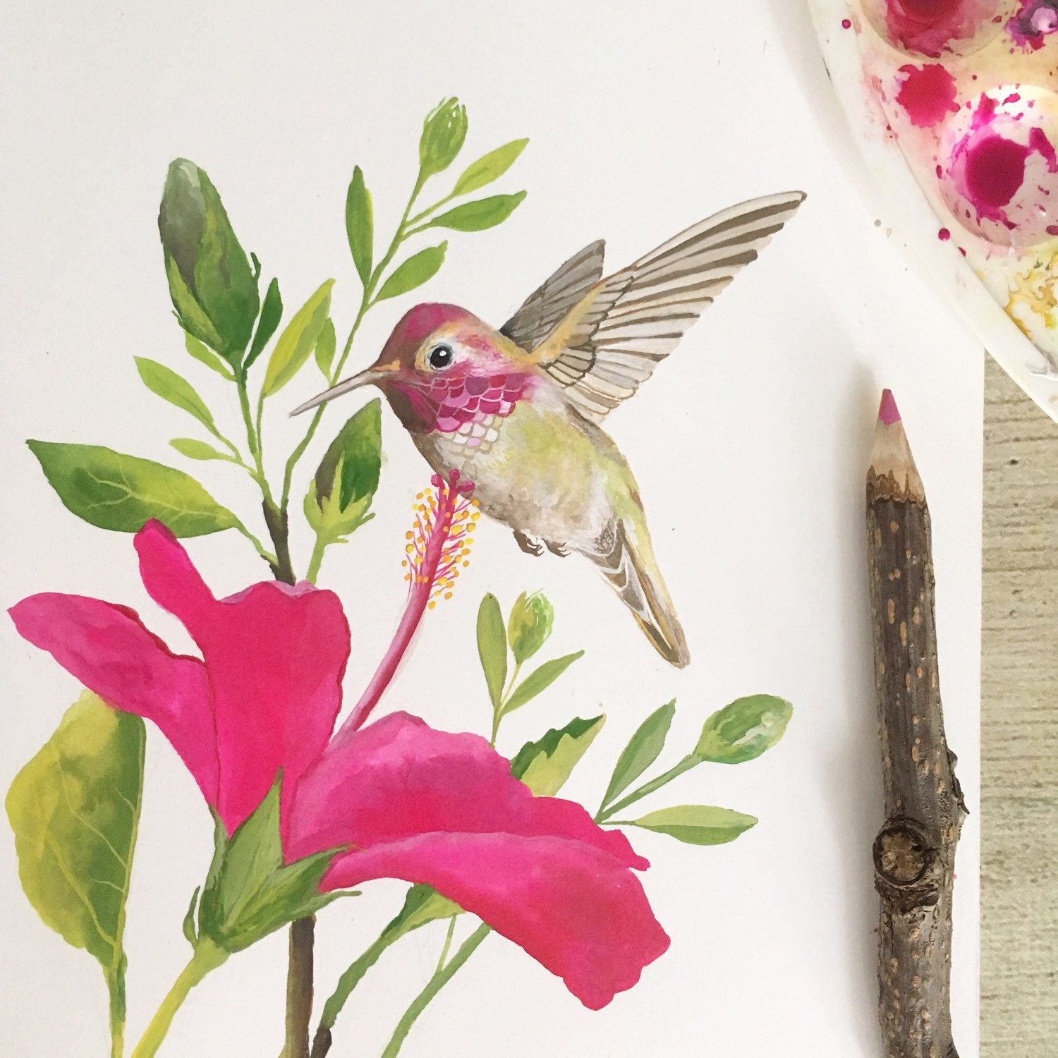 Hummingbird Art, Printable Wall Art | Watercolor ...