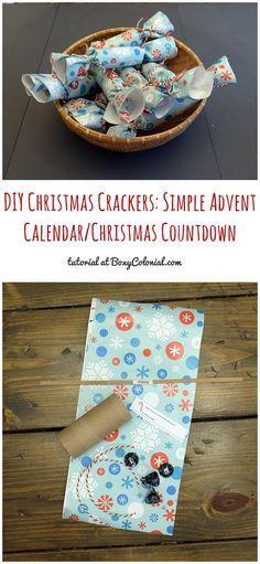 DIY Christmas Crackers Simple Christmas Countdown/Advent Calendar