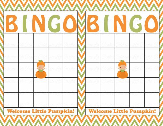 photo about Fall Bingo Printable known as Blank Kid Shower Bingo Playing cards - Printable Down load - Youngster