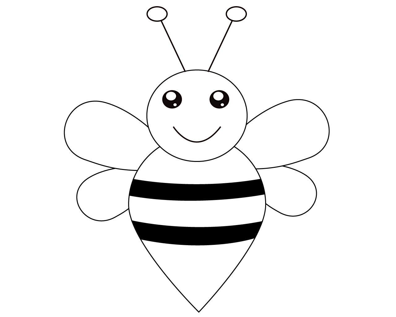 Bee Coloring Pages For Toddler
