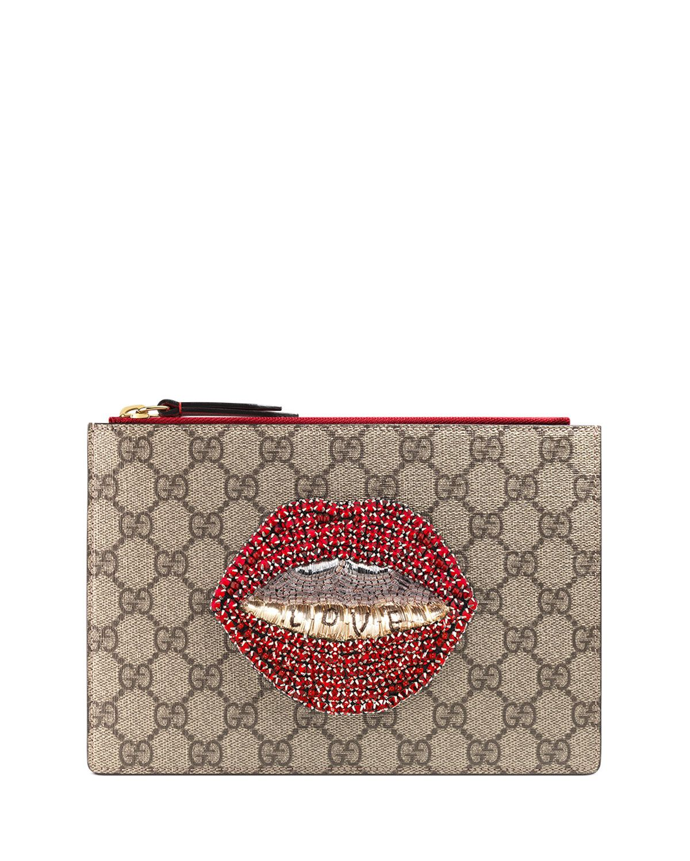 Merveilles Lips Small Pouch Bag, Multi   curvy fashion   Pinterest ... 071c55ddcc