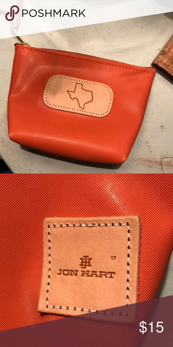 texas jon hart toiletry bag small texas burnt orange jon