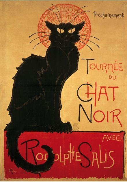 Wooden Puzzle Of Iconic Cat Poster Www Jigsaws Co Uk Black Cat Art Art Nouveau Poster Chat Noir