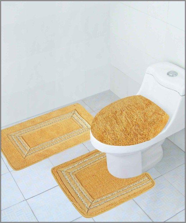 Gold Bathroom Rug Sets Bathroomrugs