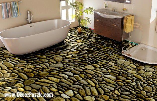 Modern Bathroom Floor Murals Designs Stone Floors For Flooring Ideas