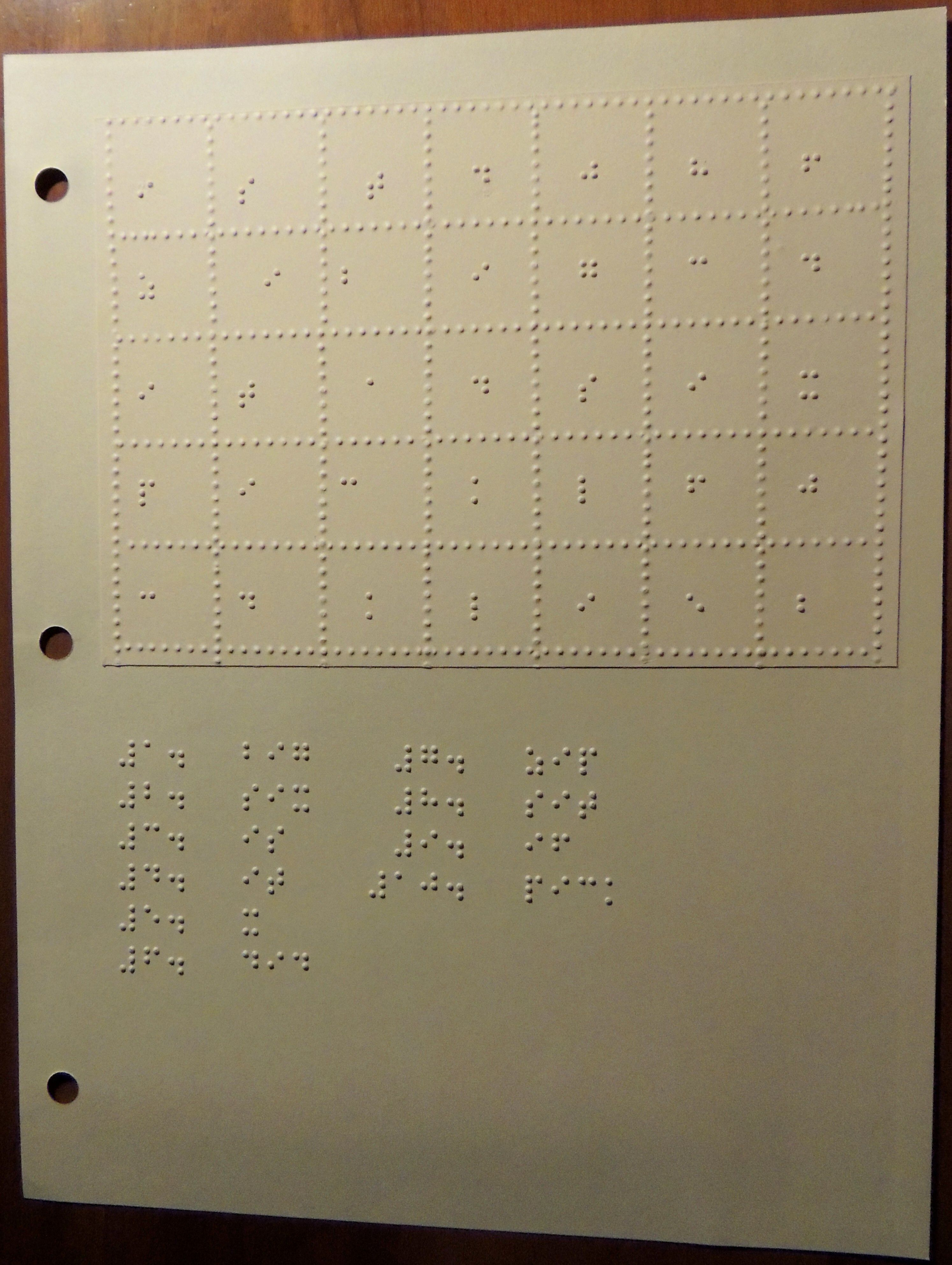 Braille Word Search Puzzles