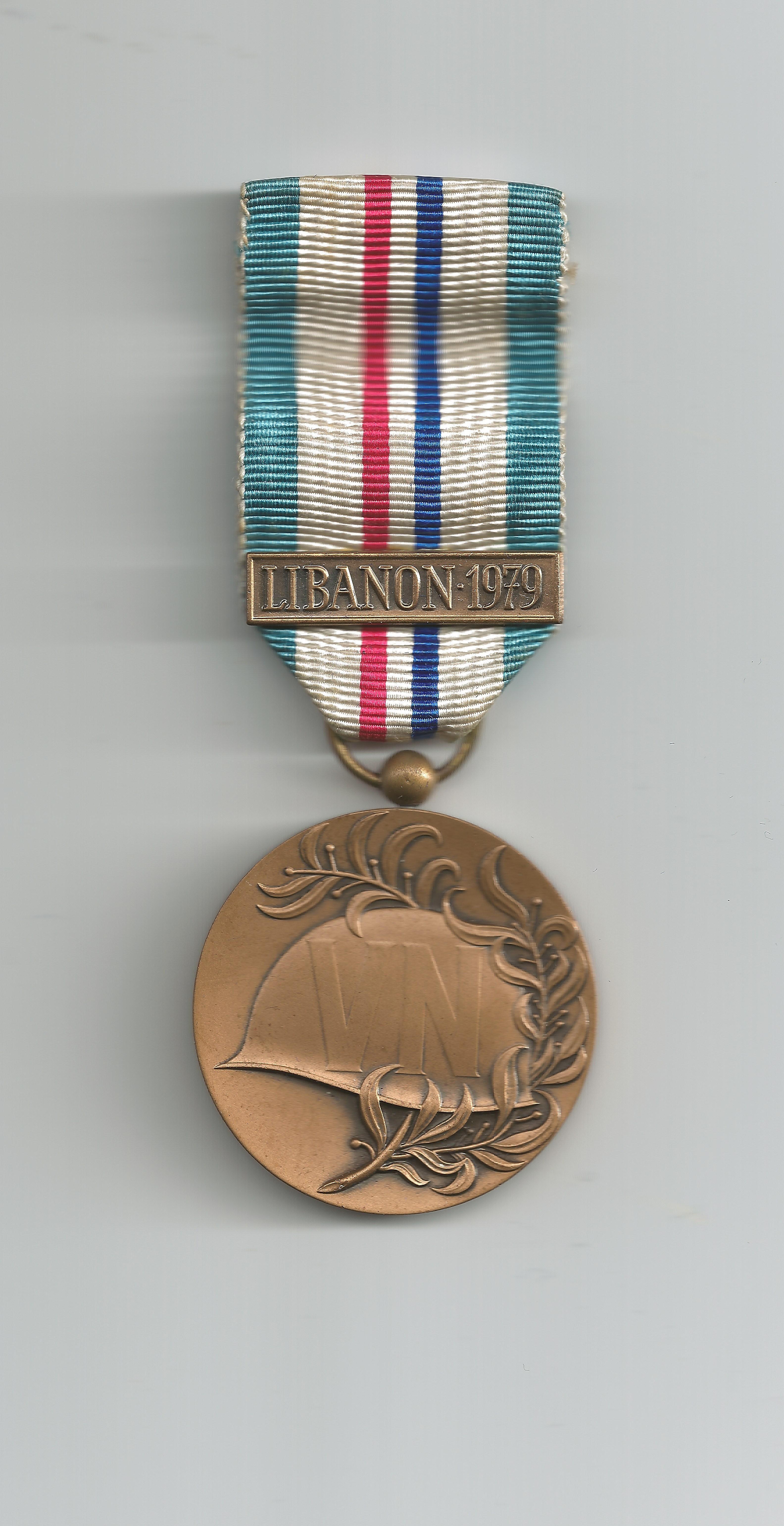 UNIFIL decoration 1979 after 100 days of UN service