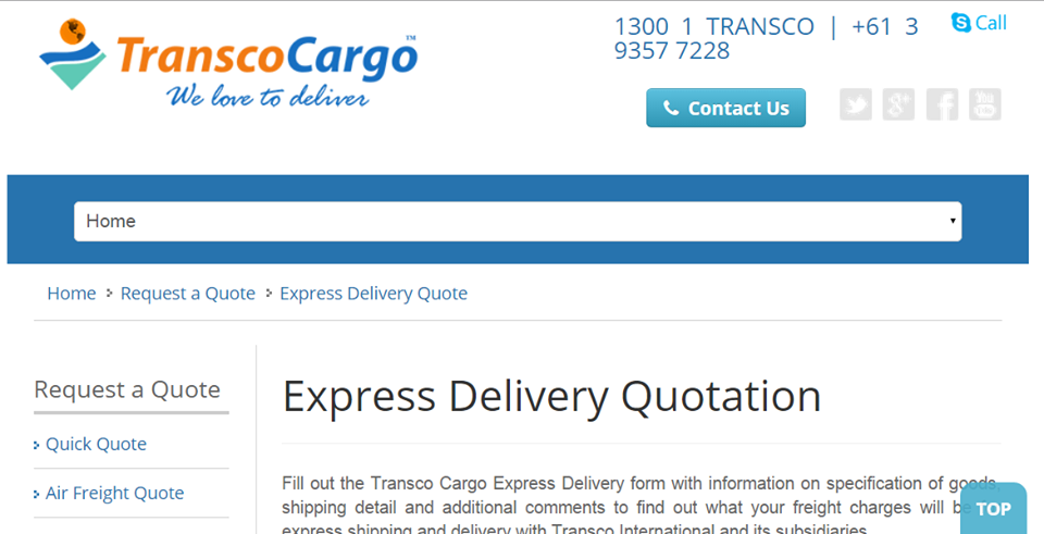 Freight Quote Need Important Documents Or Anything Else Delivered In A Rushget In