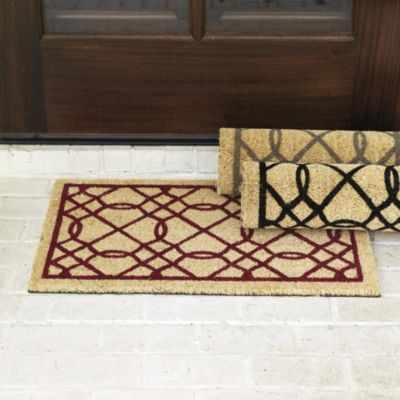 Suzanne kasler quaterfoil coir mat ballard designs want to replace our front door mat