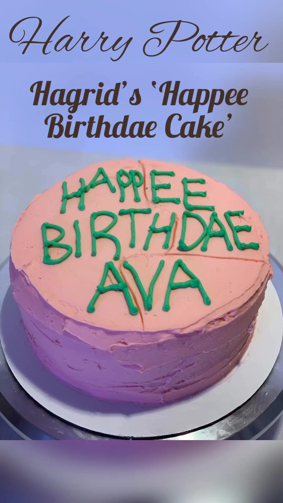 Harry Potter Happee Birthdae Cake Video Harry Potter Birthday Cake Harry Potter Cake Harry Potter Snacks