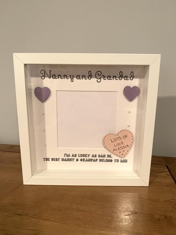 Personalised Nanny And Grandad Frame, Mothers Day Frame, Gift For Grandparents, New Baby Frame, Gift #bestgiftsforgrandparents
