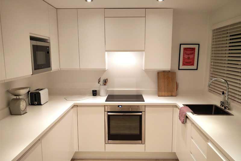Best An Innova Luca Matt White Handleless Kitchen With Images 400 x 300