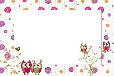 Imprimibles de b hos eulen owls pinterest for Bordas para mural