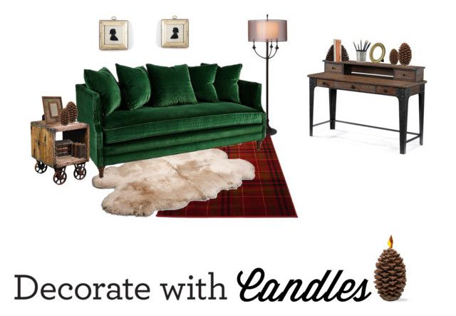 """""""Cozy Candle Chic"""" by clsgvsugrl ❤ liked on Polyvore featuring interior, interiors, interior design, home, home decor, interior decorating, UGG Australia, Thumprints, Kevin O'Brien and Imax Home"""