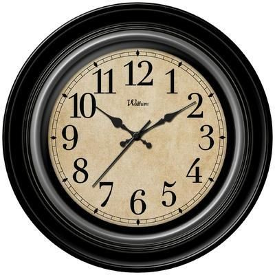 12 Inch Antique Look Wall Clock Black Wall Clock Clock Wall