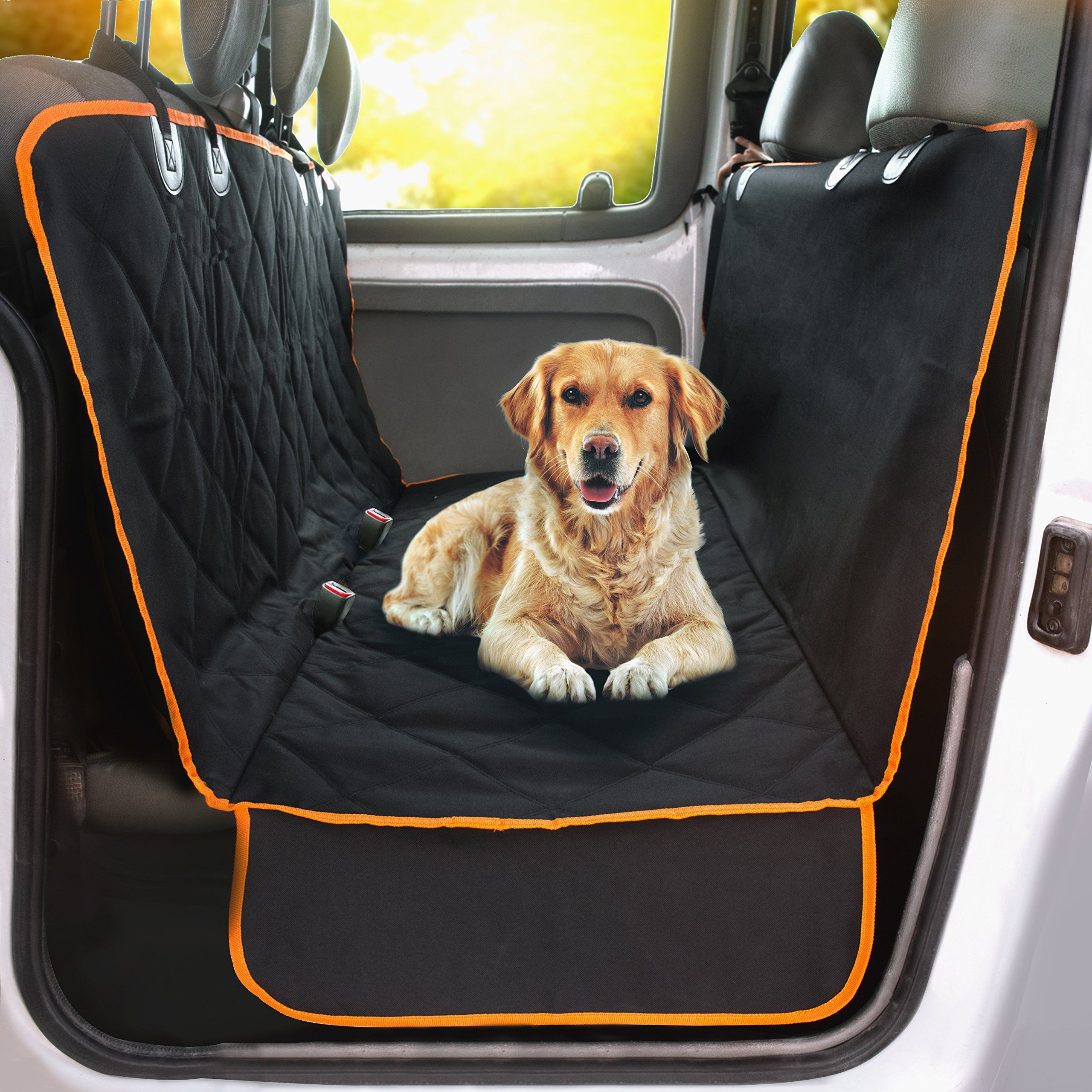 Dog Doors, Houses & Furniture Pet Dog Seat Hammock Cover Car Rear Protector Mat Waterproof Let Our Commodities Go To The World