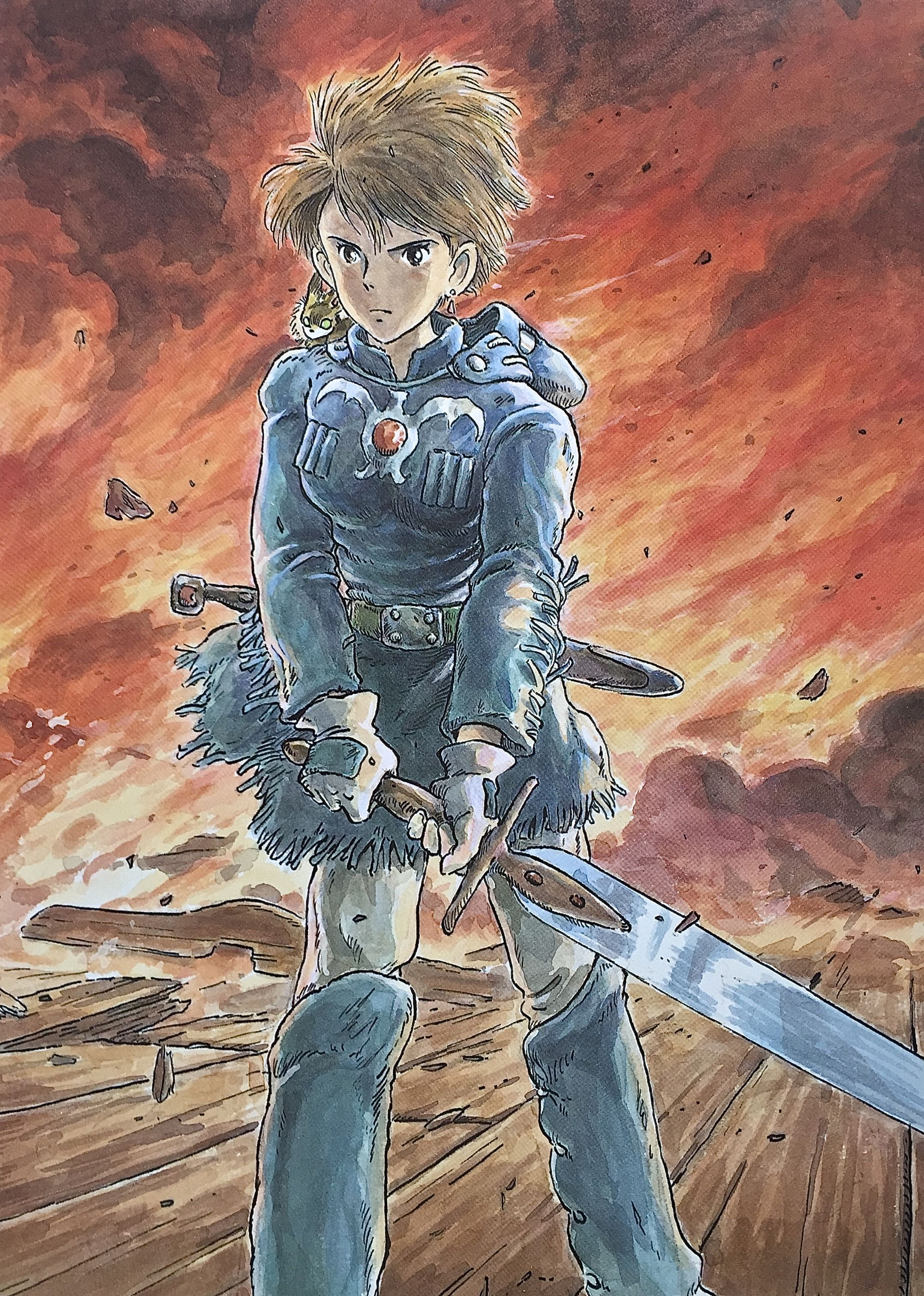 Illustrations done for the Nausicaa manga ===== Manga began running in monthly…