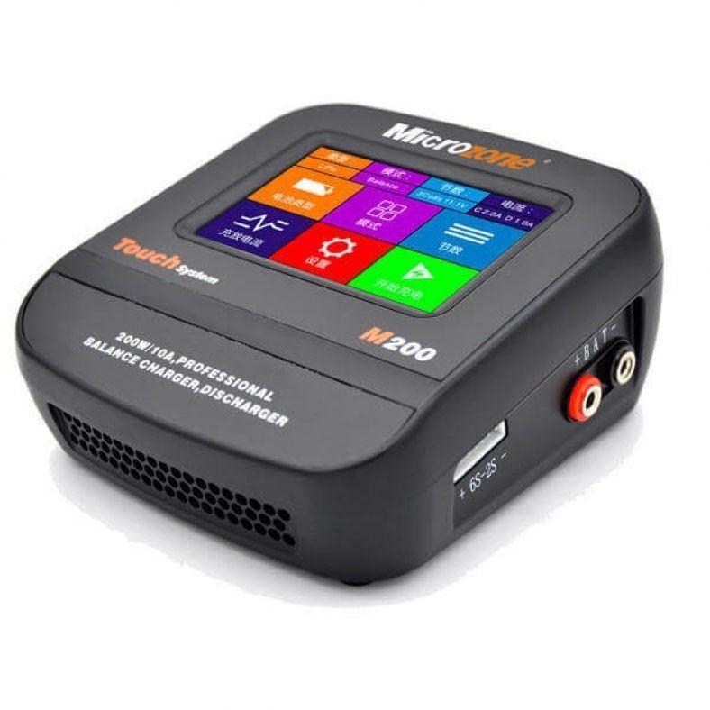 Microzone Mc M200 200w 10a Color Screen Smart Balance Lipo Battery Charger Discharger Cargador Bateria Cargadores