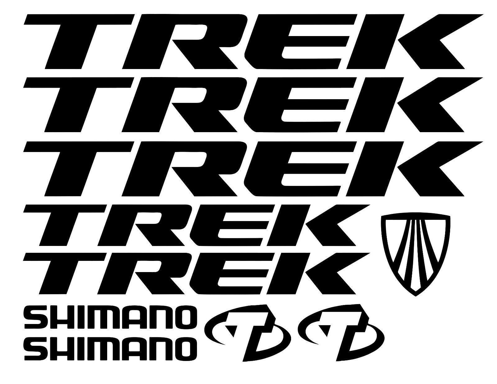 Trek Replacement Mountain Bike Frame Style Vinyl Stickers Decals