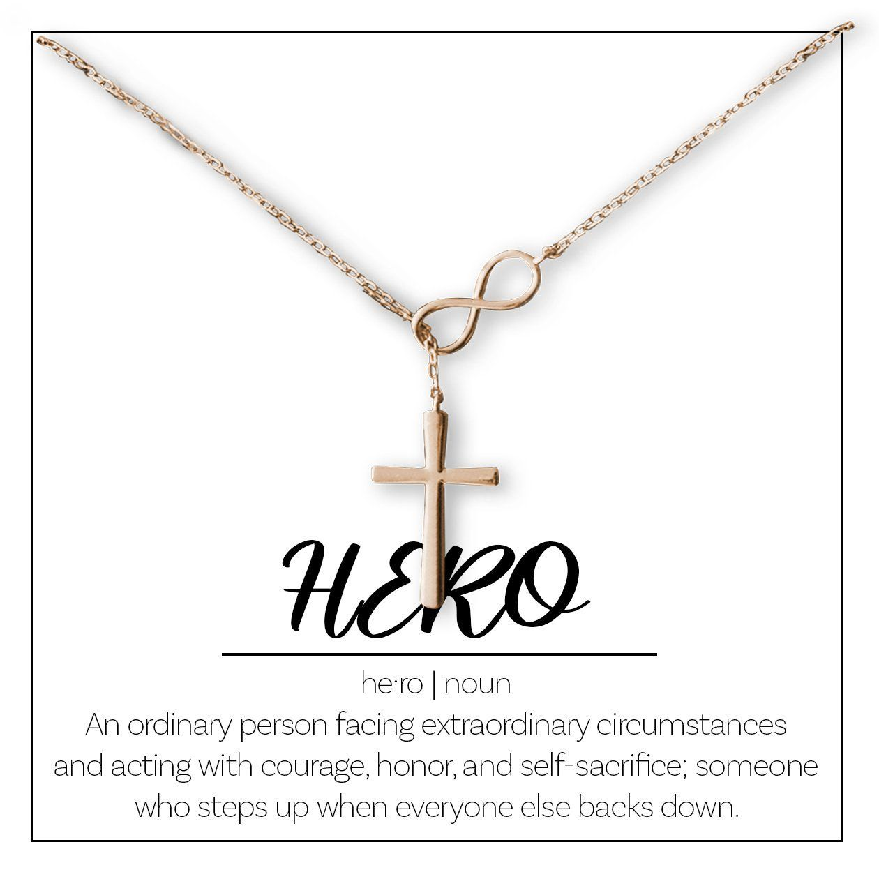 Veterans Day Gift, Veteran Gift for Her: Thank You, Army, Navy, Marines, Air Force, Hero, Vet, Appreciation, Thank You For Your Service, Infinity Cross, Rose Gold #veteransdaythankyou
