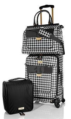 a69038a984982 Samantha Brown Houndstooth Spinner 3-piece Luggage Set Black White Luggage  Samantha Brown http