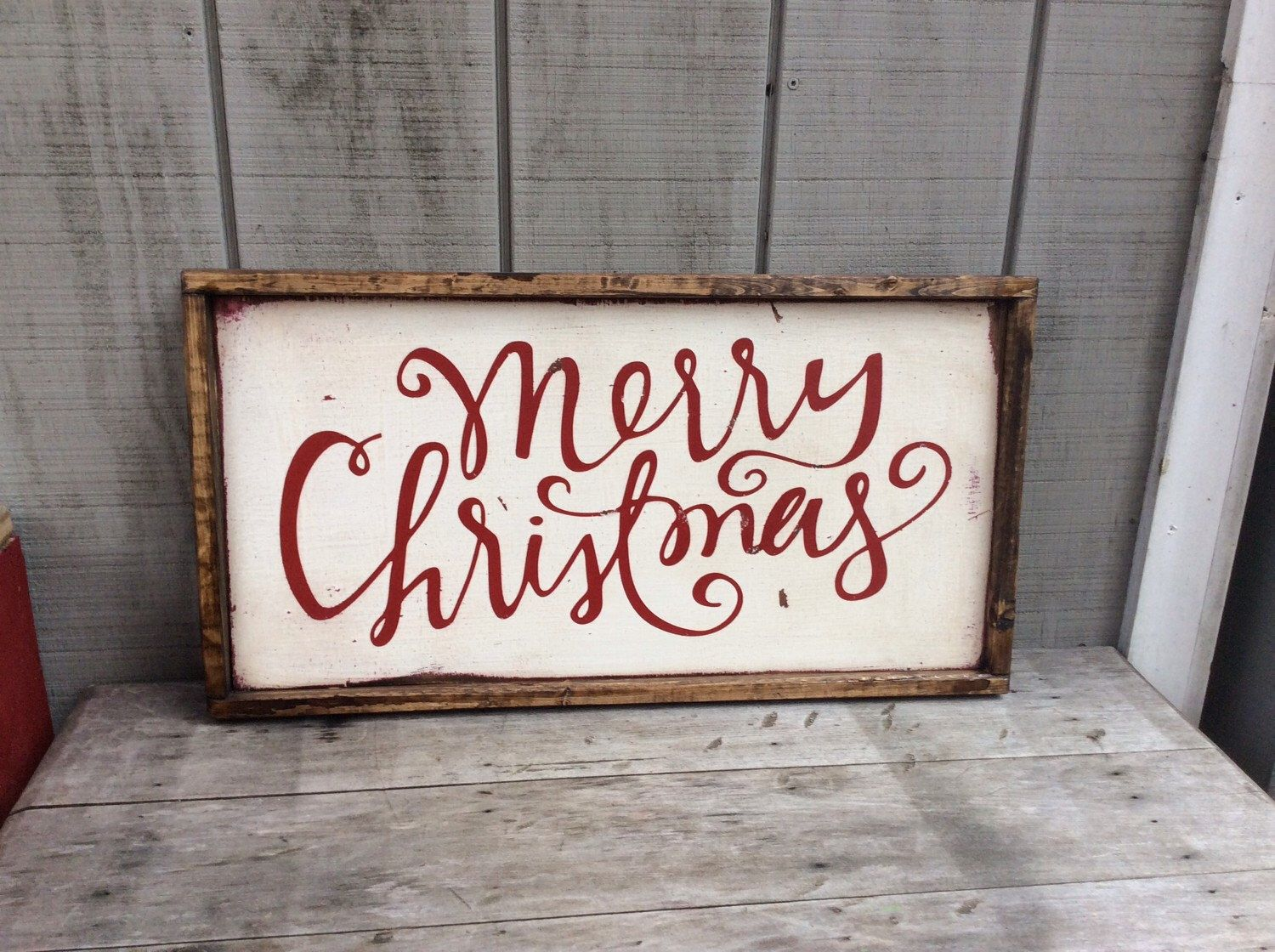 Merry Christmas Sign Rustic Wood By Sophisticatedhilbily On Etsy Https