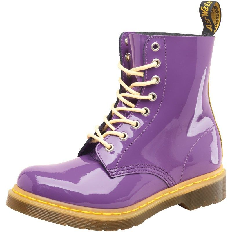 Dr Marten Womens Pascal Boots Purple/Acid Yellow